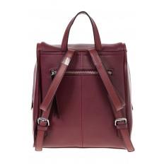 На фото 3 - Бордовый женский рюкзак из натуральной кожи 6115AR