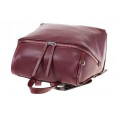 На фото 4 - Бордовый женский рюкзак из натуральной кожи 6115AR