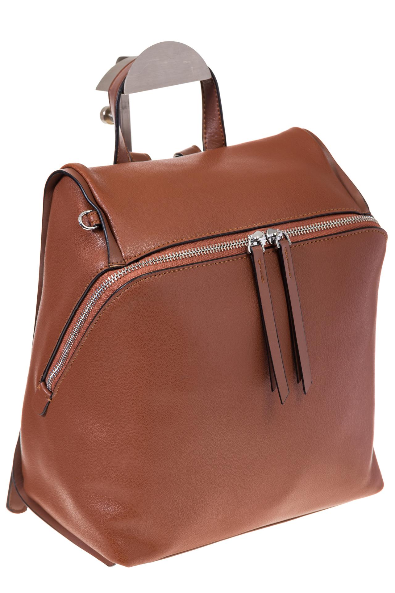 На фото 1 - Коричневый женский рюкзак из натуральной кожи 6115AR
