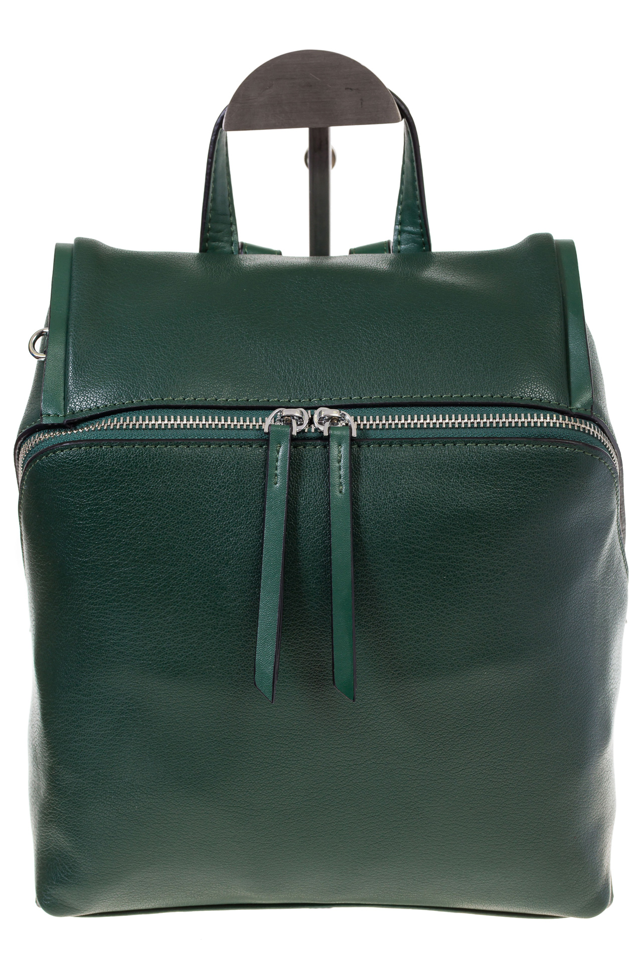 На фото 2 - Зеленый женский рюкзак из натуральной кожи 6115AR