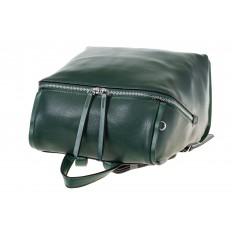 На фото 4 - Зеленый женский рюкзак из натуральной кожи 6115AR