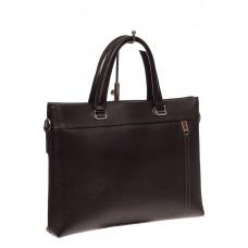 На фото 1 - Мужской деловой портфель из натуральной кожи