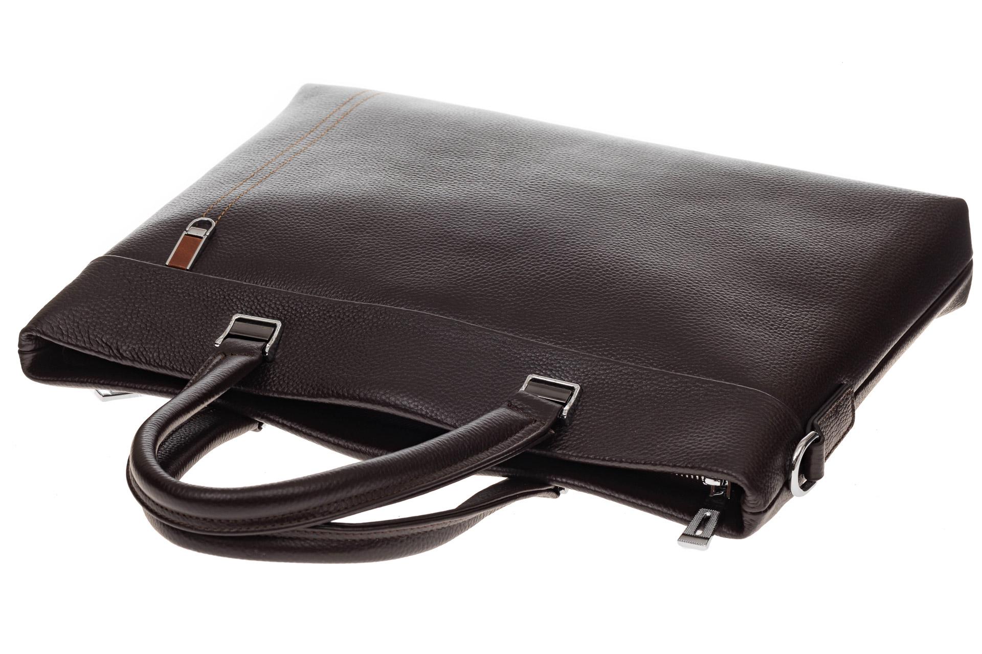 На фото 4 - Мужской деловой портфель из натуральной кожи