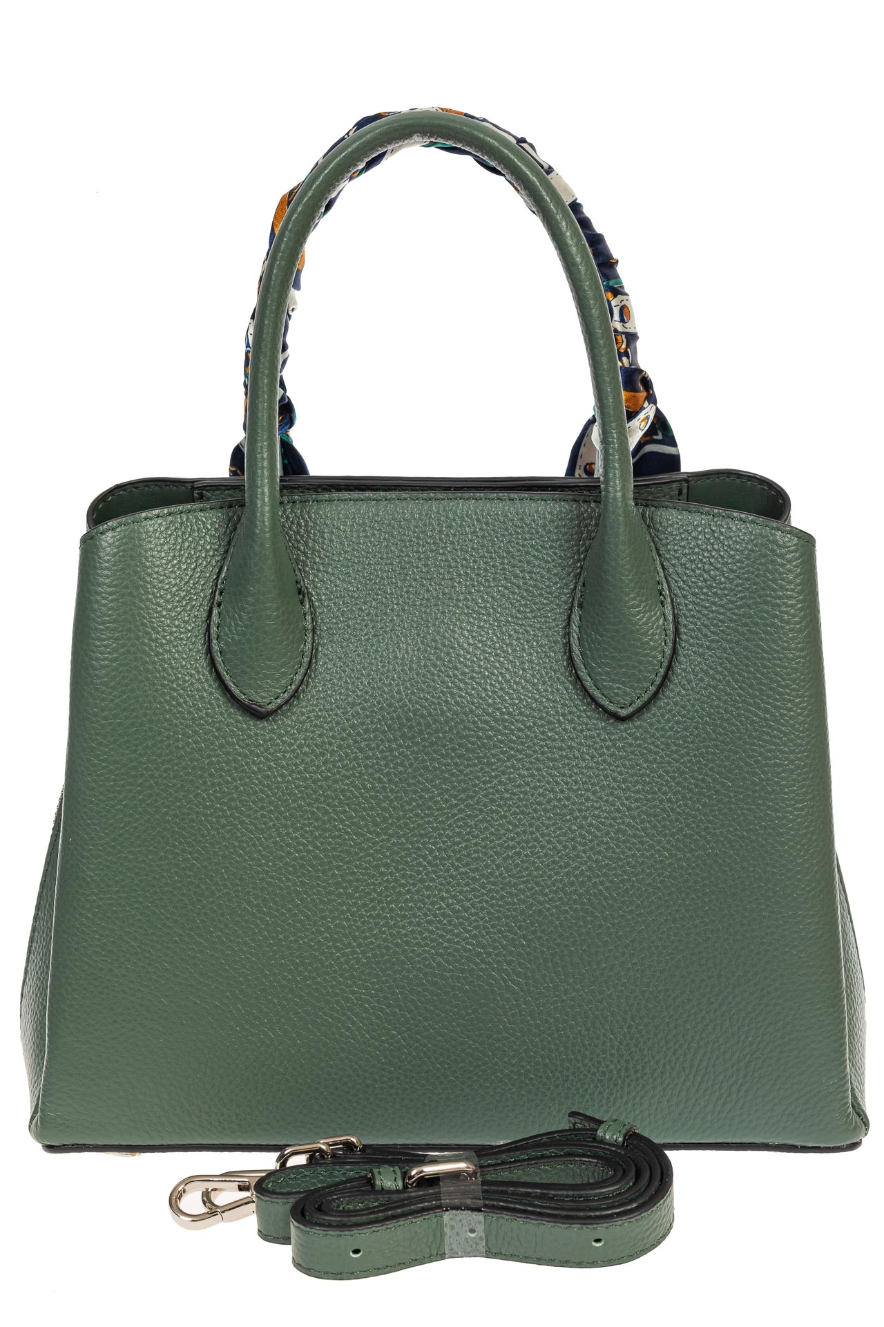 На фото 3 - Женская сумка из натуральной кожи с ярким твилли, цвет бирюзовый