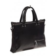 На фото 1 - Мягкий мужской портфель из натуральной кожи
