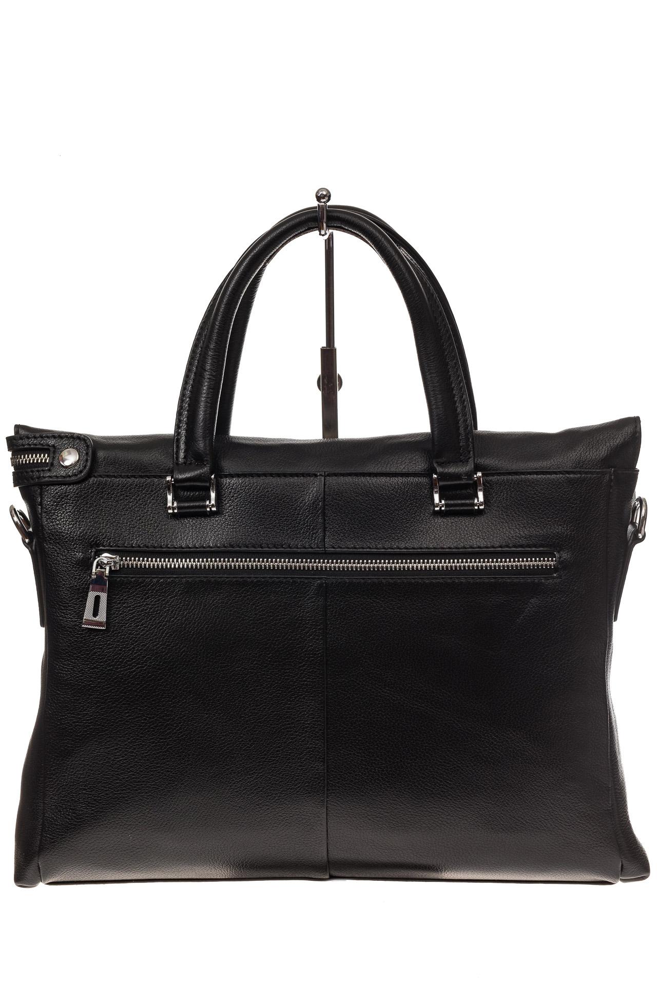 На фото 3 - Мягкий мужской портфель из натуральной кожи