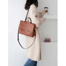 На фото 1 - Мягкая сумка из натуральной кожи  рыжего цвета