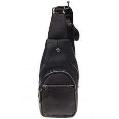 На фото 2 - Мужской неформальный sling bag из натуральной кожи