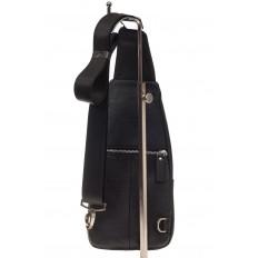 На фото 3 - Мужской неформальный sling bag из натуральной кожи
