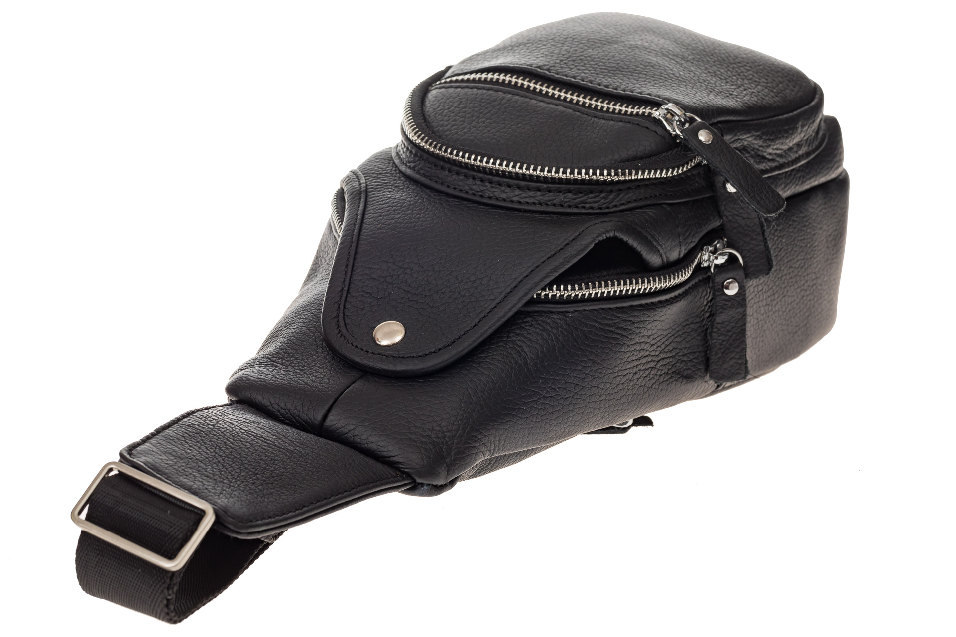 На фото 4 - Мужской неформальный sling bag из натуральной кожи