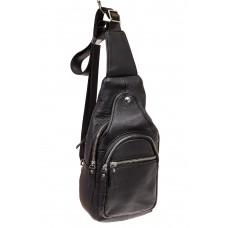 На фото 1 - Слинг-рюкзак для мужчин из натуральной кожи...
