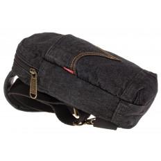 На фото 4 - Сумка из серо-черной джинсовой ткани слинг-бэг