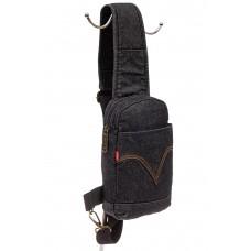 На фото 1 - Текстильный слинг-рюкзак для мужчин, цвет т...