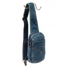 На фото 1 - Текстильный слинг-рюкзак для мужчин, цвет г...