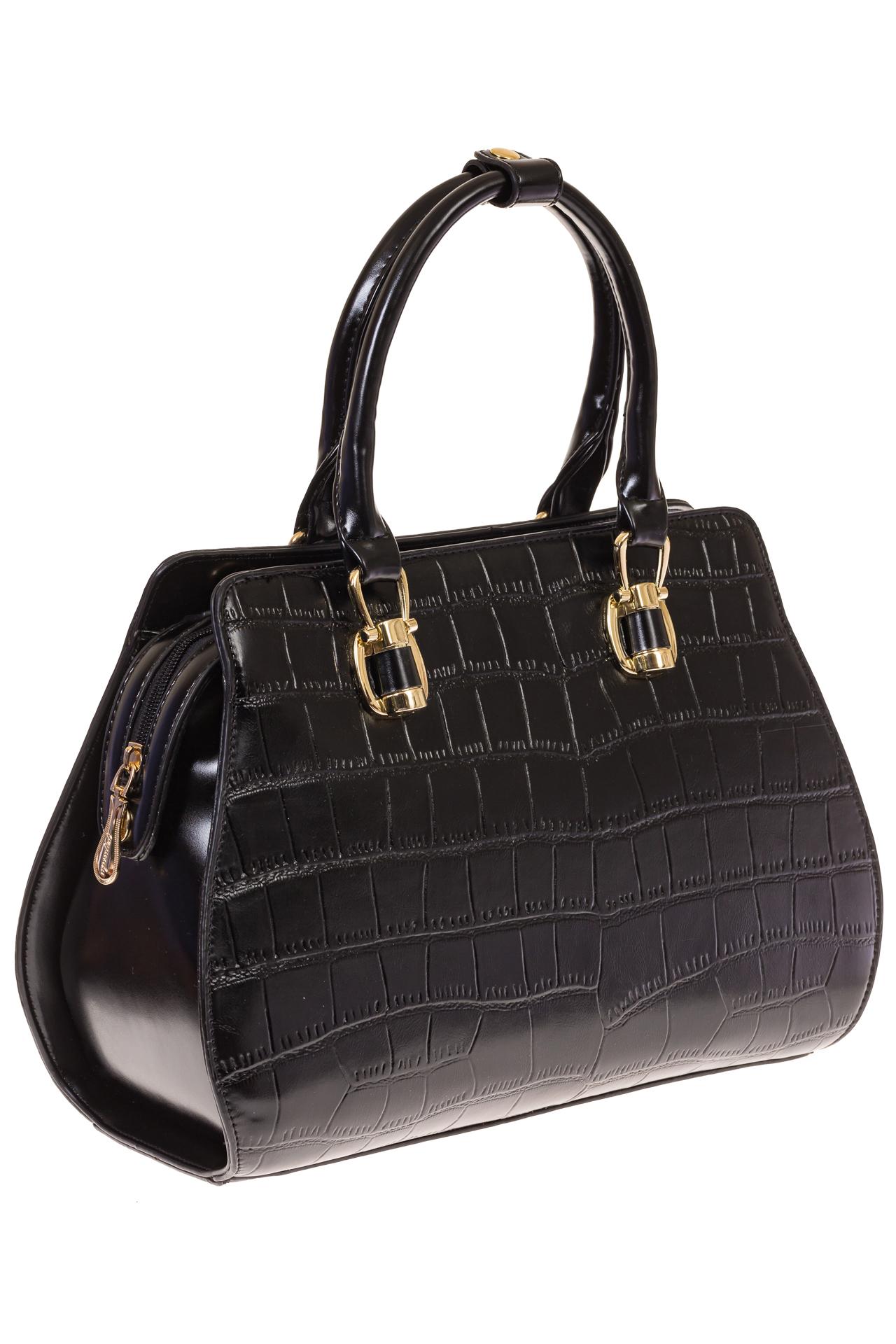 На фото 1 - Женская сумка из эко-кожи с тиснением
