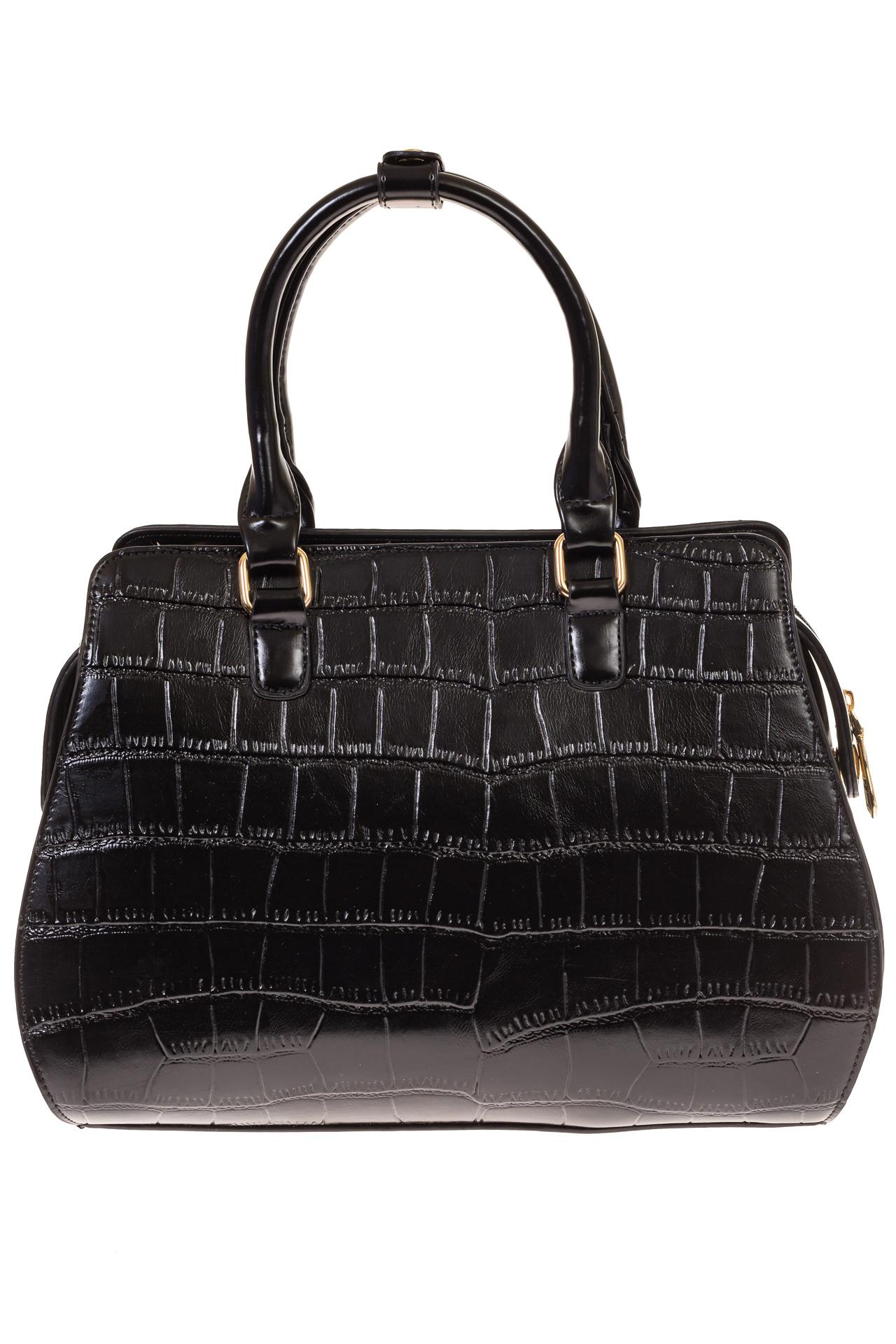 На фото 3 - Женская сумка из эко-кожи с тиснением