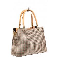 На фото 1 - Универсальная женская сумка из экокожи, цвет кремовый