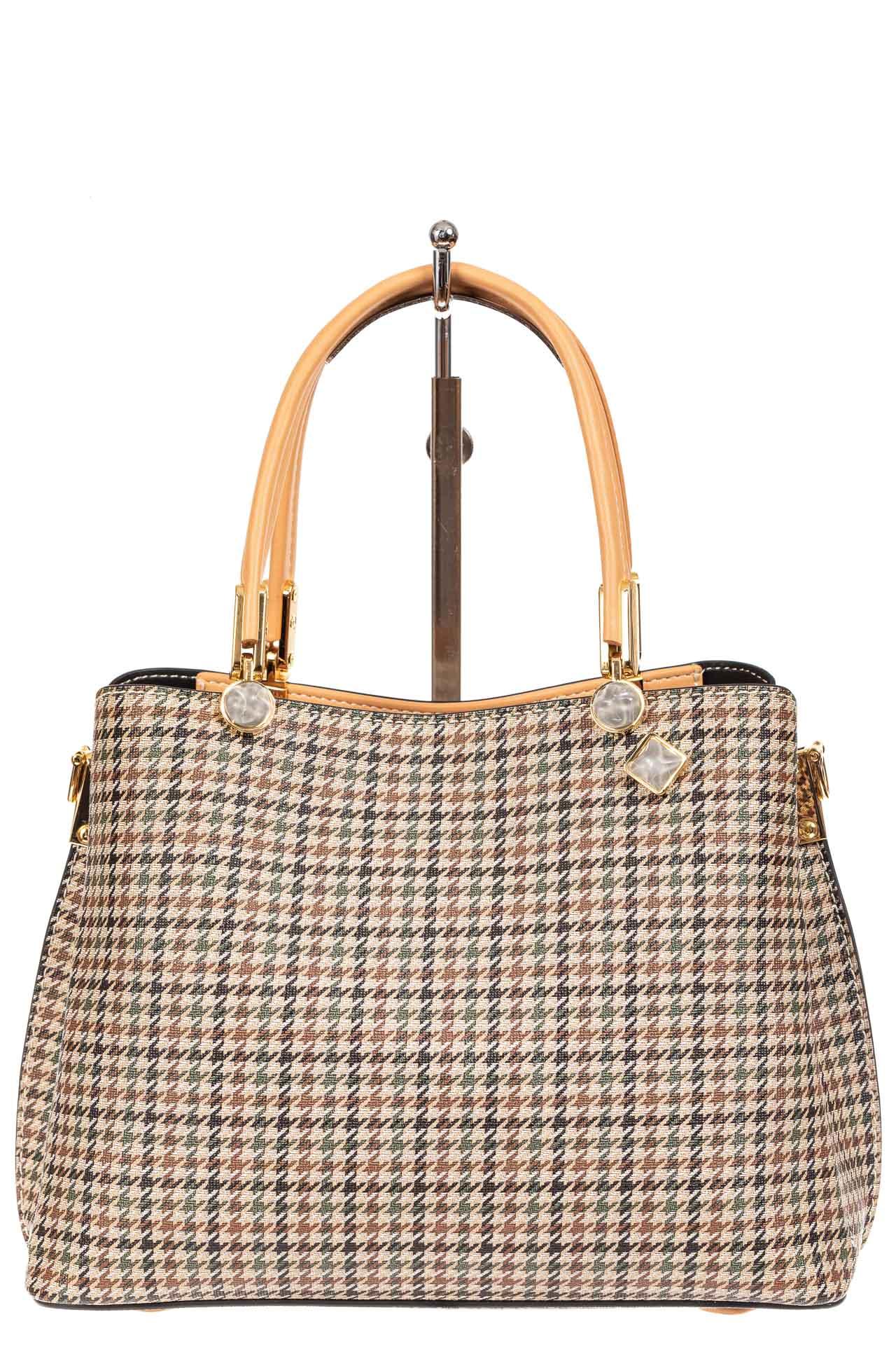 На фото 2 - Универсальная женская сумка из экокожи, цвет кремовый