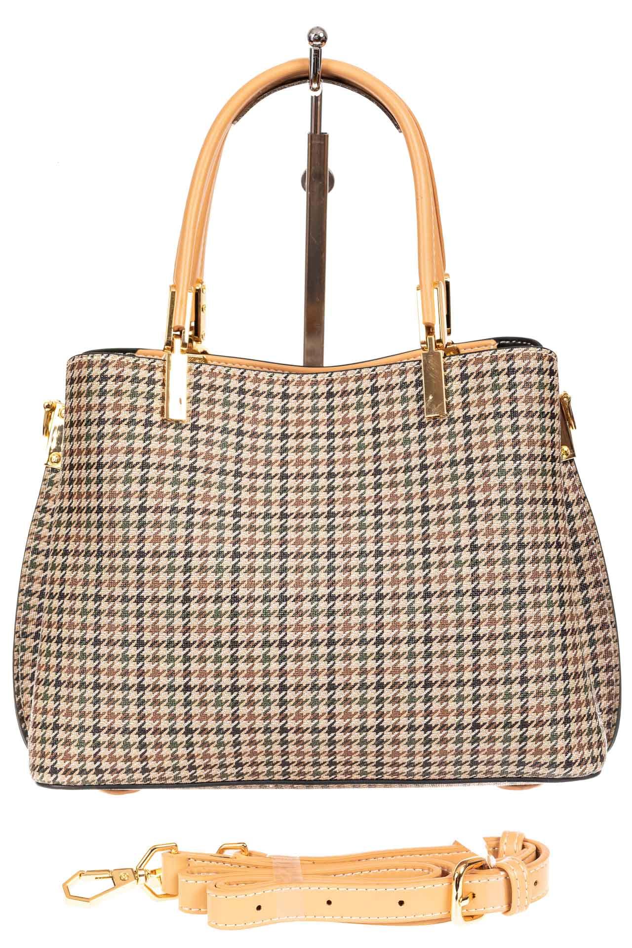 На фото 3 - Универсальная женская сумка из экокожи, цвет кремовый