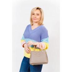 На фото 5 - Универсальная женская сумка из экокожи, цвет кремовый