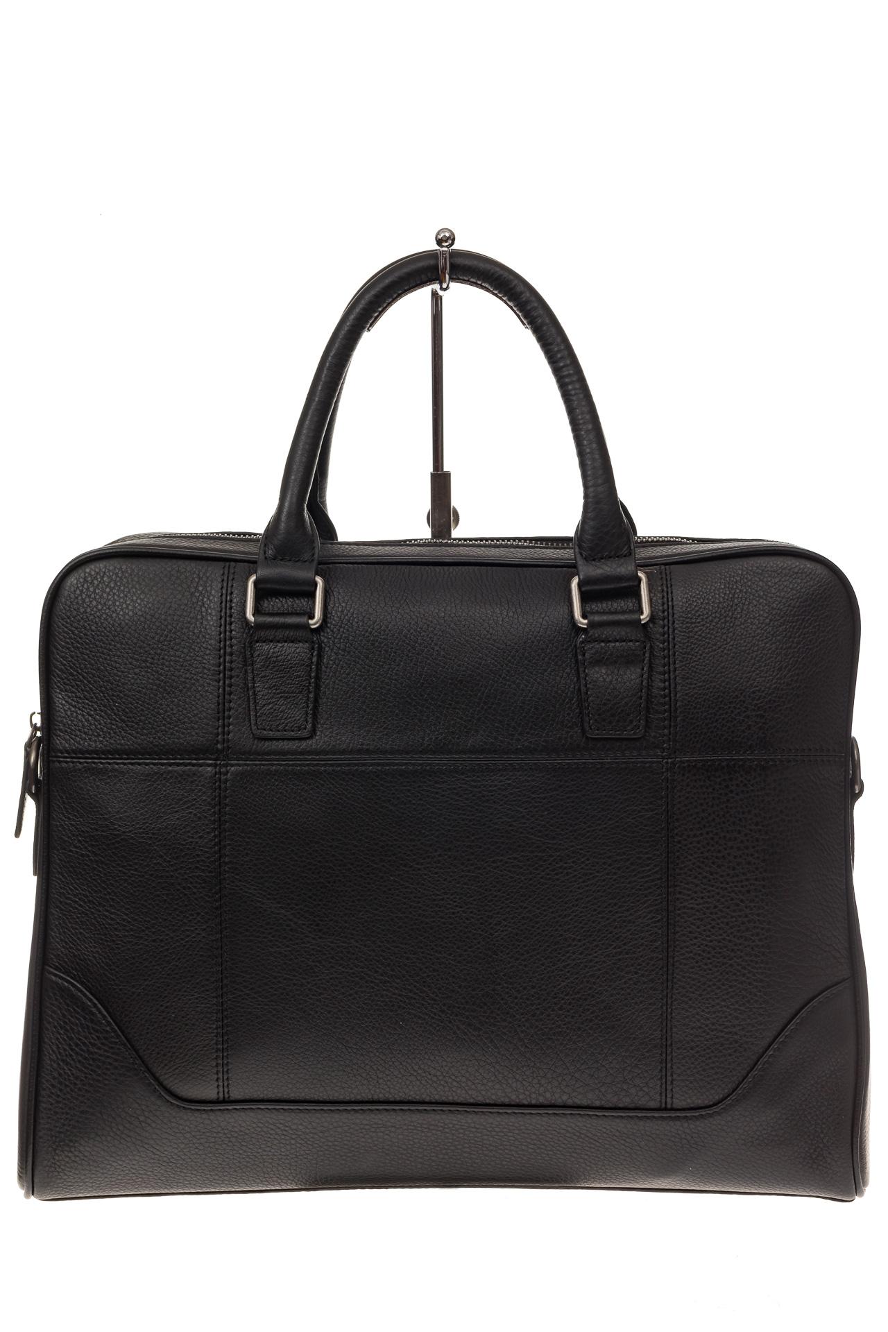 На фото 2 - Мягкий мужской портфель из натуральной кожи