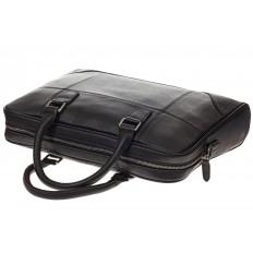На фото 4 - Мягкий мужской портфель из натуральной кожи