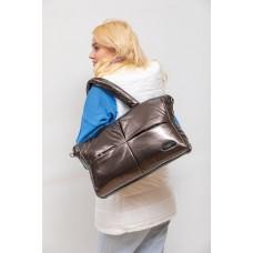 На фото 1 - Вместительная сумка из искусственной кожи, цвет кобальт