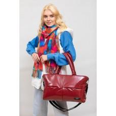 На фото 1 - Вместительная сумка из искусственной кожи, цвет красный