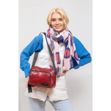 На фото 1 - Молодёжная  сумка из экокожи, цвет красный