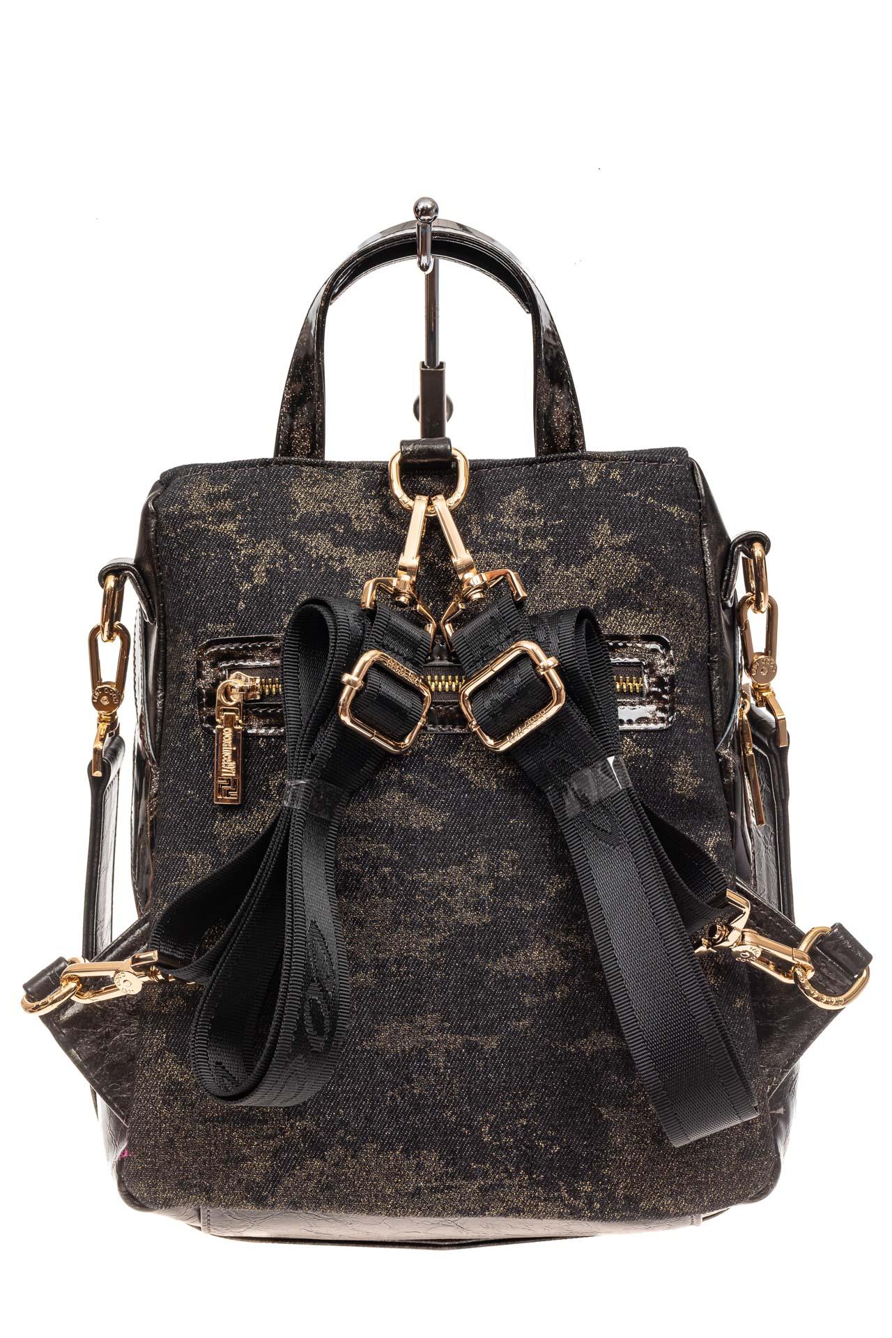 На фото 3 - Женский рюкзак с изображением леопарда из страз