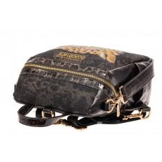 На фото 4 - Женский рюкзак с изображением леопарда из страз