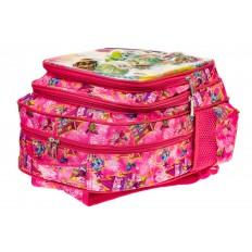 На фото 3 - Большой вместительный рюкзак с аппликацией, цвет розовый