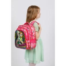 На фото 4 - Большой вместительный рюкзак с аппликацией, цвет розовый