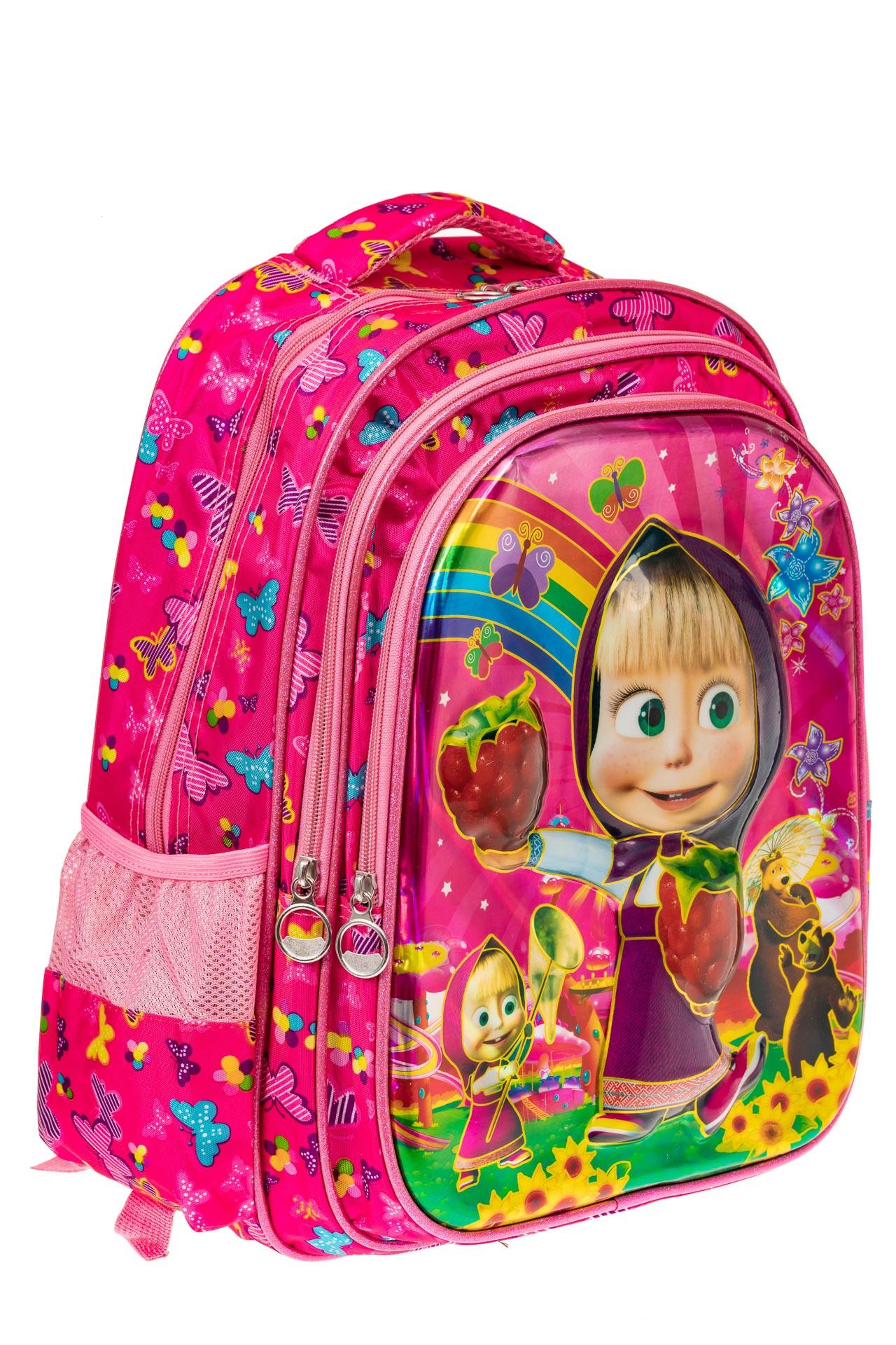На фото 1 - Большой школьный рюкзак, цвет фуксия