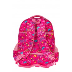 На фото 2 - Большой школьный рюкзак, цвет фуксия