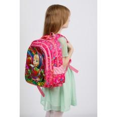 На фото 4 - Большой школьный рюкзак, цвет фуксия