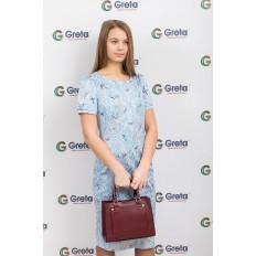 На фото 4 - Классическая женская сумка из натуральной кожи, цвет винный