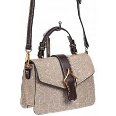 На фото 1 - Сумка-портфель  из искусственной кожи, цвет серый