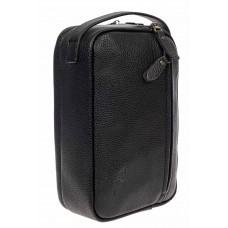 На фото 1 - Чёрная мужская сумка из натуральной кожи с ручкой-трансформером