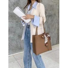 На фото 1 - Женская сумка из натуральной кожи, цвет светло - коричневый