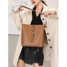 На фото 1 - Женская сумка из натуральной кожи, цвет коричневый