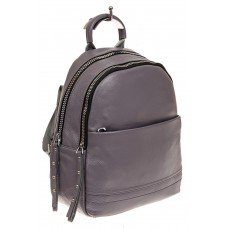На фото 1 - Женский рюкзак из натуральной кожи, цвет се...