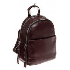 На фото 1 - Женский рюкзак из натуральной кожи, цвет бо...