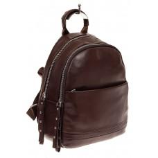 На фото 1 - Женский рюкзак из натуральной кожи, цвет ко...