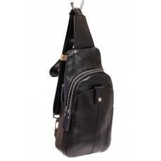 На фото 1 - Мужская слинг-сумка из натуральной кожи, цв...