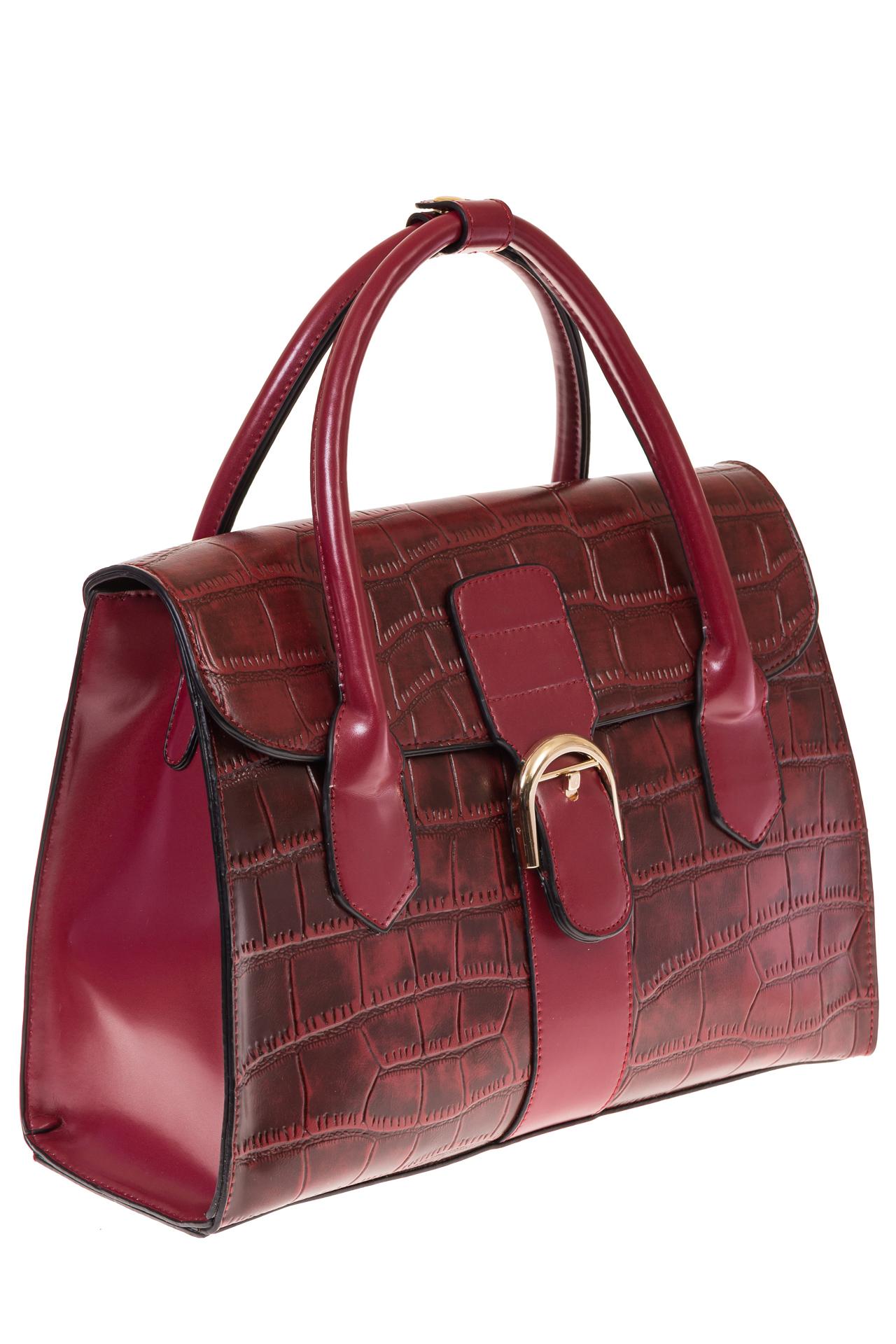 На фото 1 - Женская сумка-портфель из эко-кожи