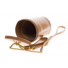 На фото 3 - Сумочка-ведерко коричневого цвета 664