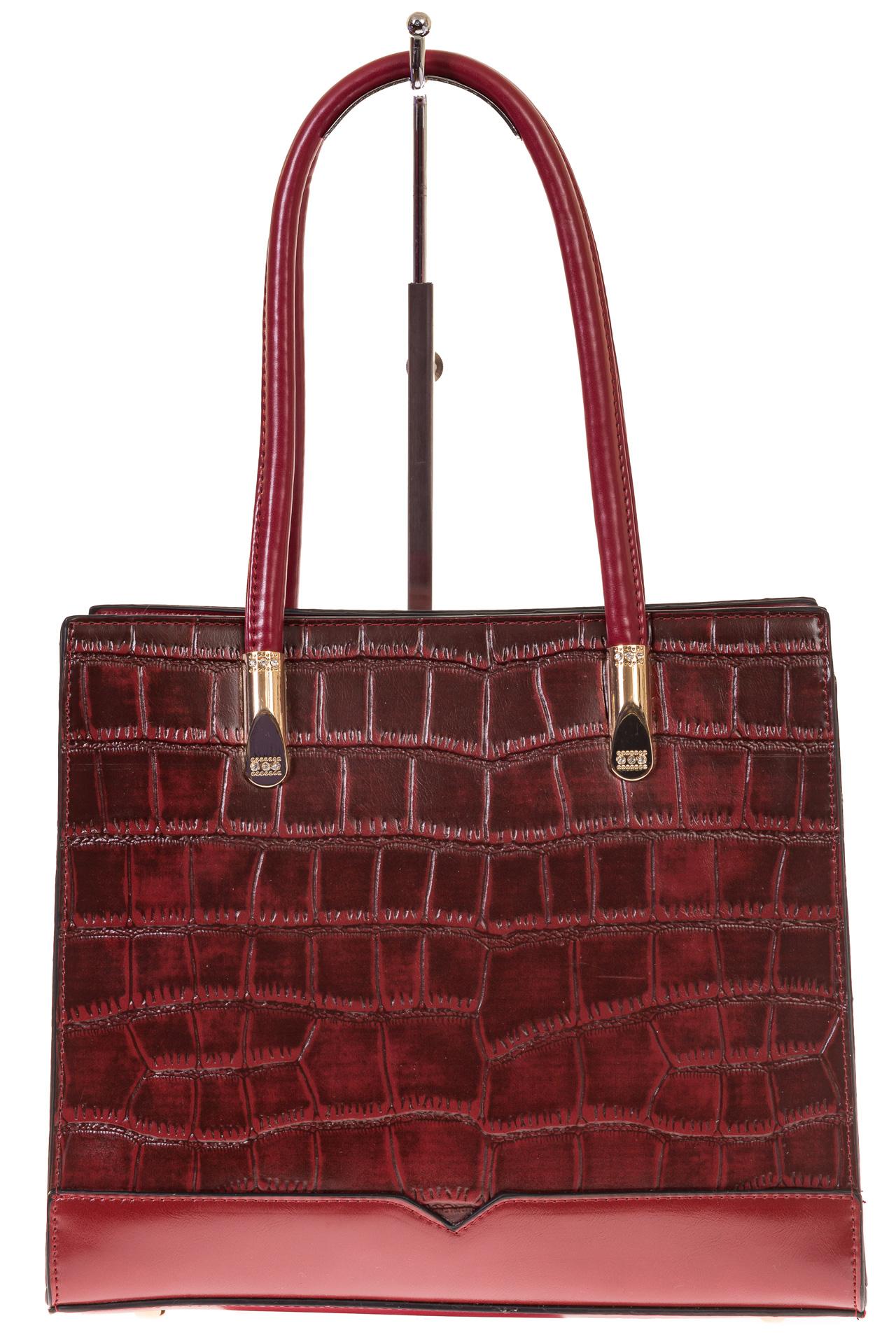На фото 2 - Строгая сумка из искусственной кожи