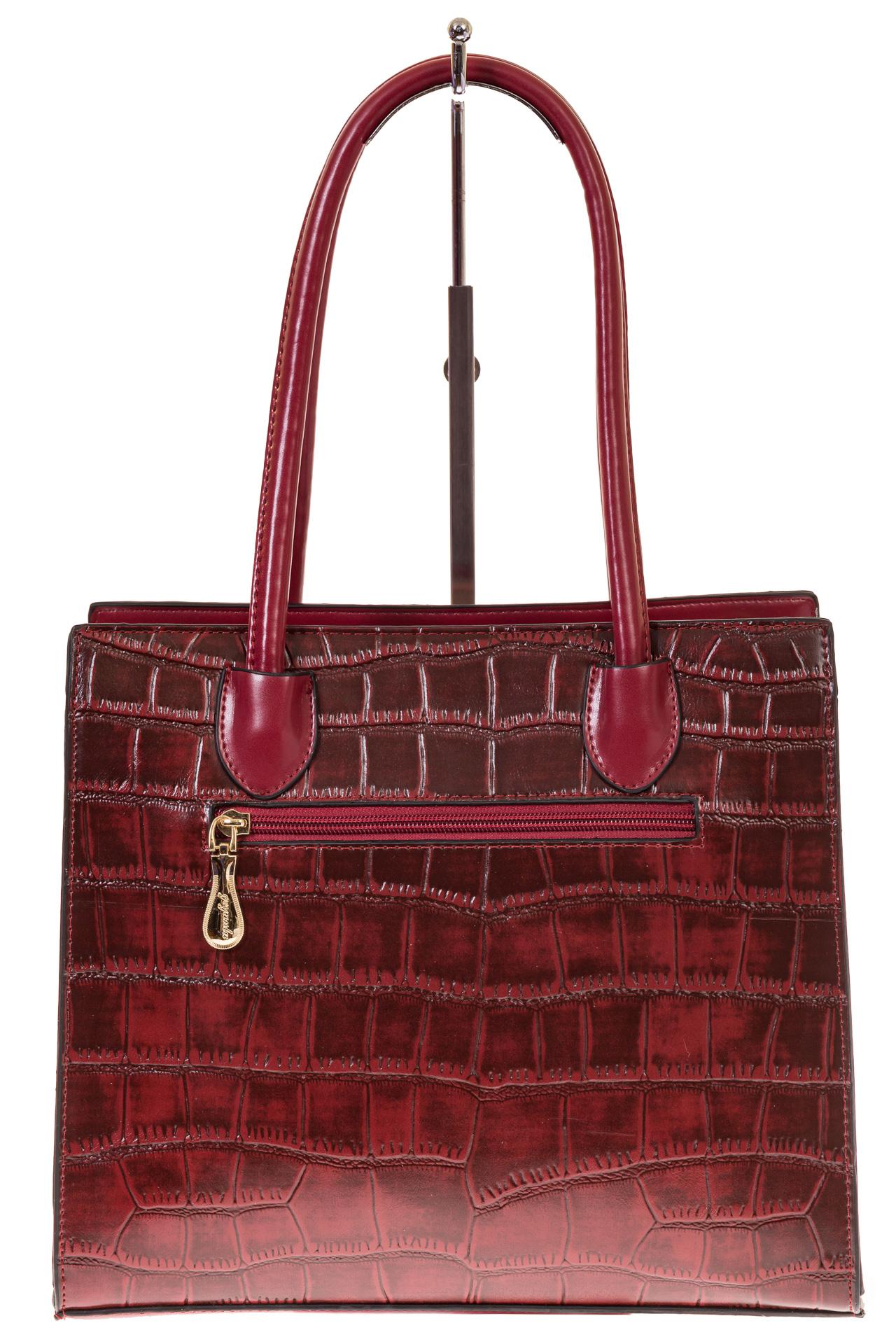 На фото 3 - Строгая сумка из искусственной кожи