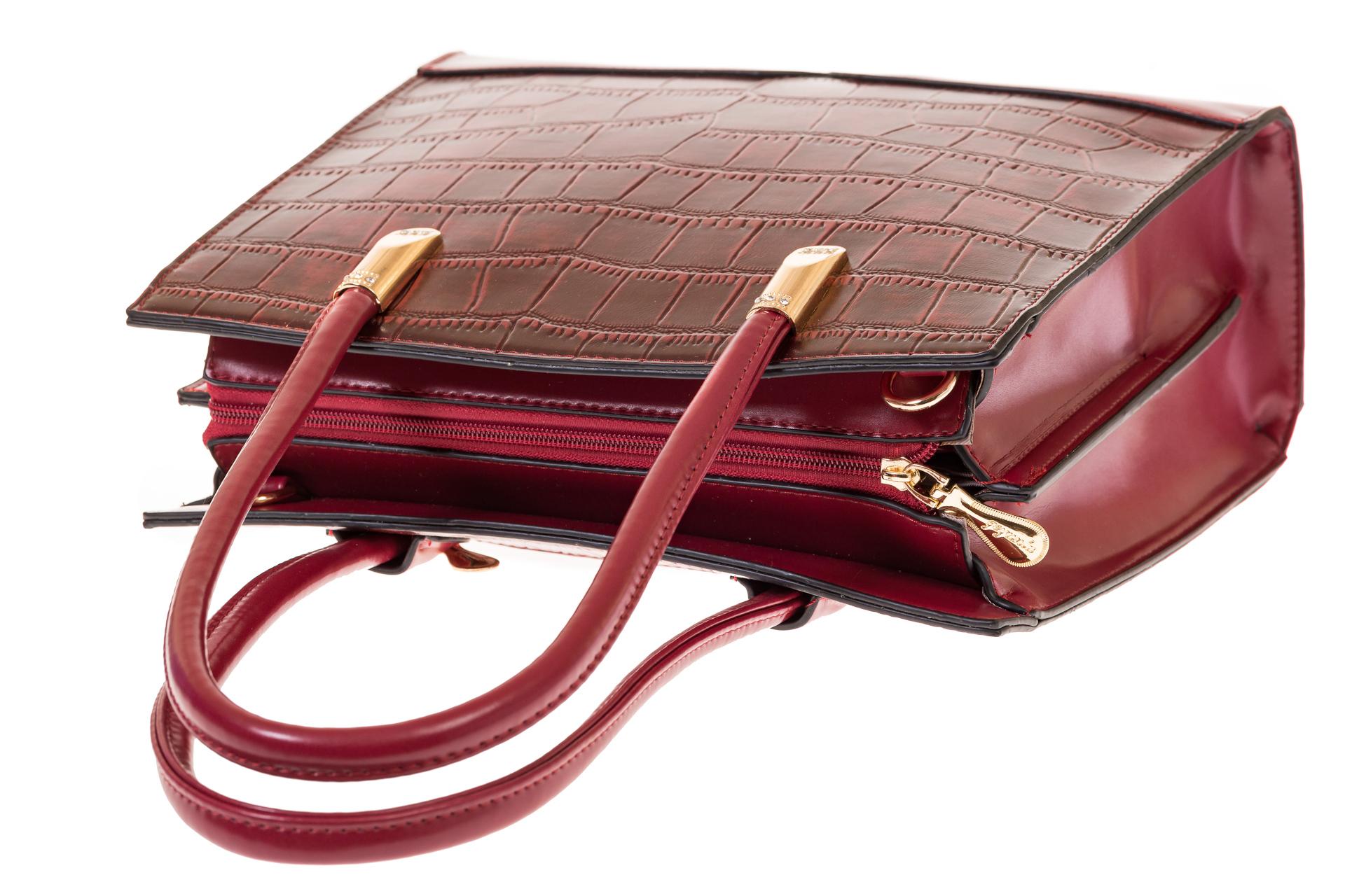 На фото 4 - Строгая сумка из искусственной кожи